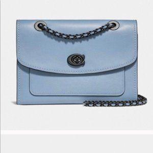 Coach Parker slate crossbody Bag blue Ladies